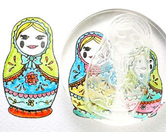 Russian Dolls Rubber Stamps