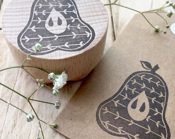 Pear Rubber Stamp