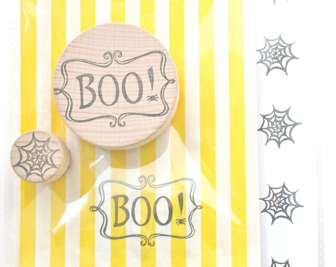 Halloween Boo Rubber Stamp