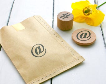 Social Media - Rubber Stamp - @ - Icon - Social Media Rubber Stamp - Social Media Icons - Icon Rubber Stamp - Little Stamp Store - Stamp It