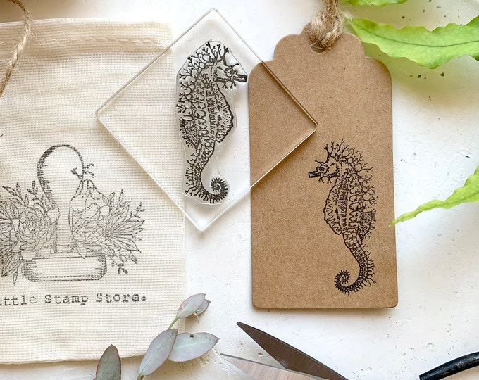 Seahorse Rubber Stamp