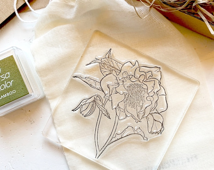 Hellebore Flower Clear Rubber Stamp