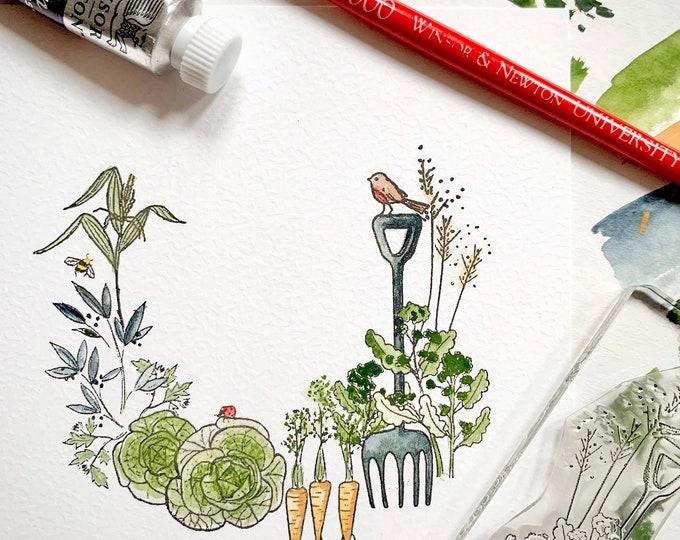 Garden Allotment Stamp