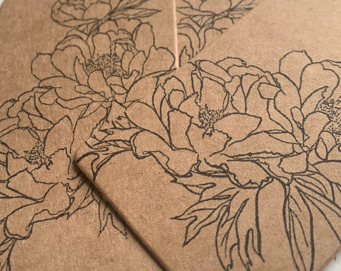 Peony Rubber Stamp