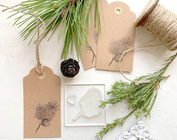 Pine Tree Sprig Rubber Stamp