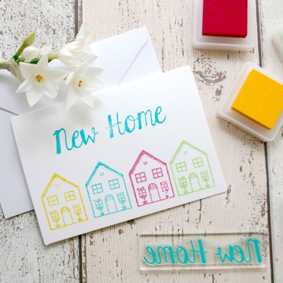 New Home Rubber Stamp Card