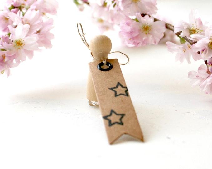 Little Star Outline Rubber Stamp