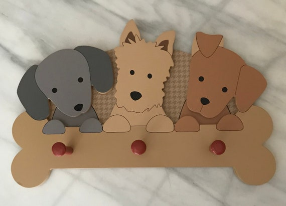 Lambs And Ivy Bow Wow Puppies Coat Rack Etsy