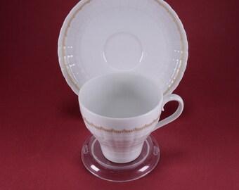 Coffee - Deck 2piece Hutschenreuther - Lucina Astarte Goldranke