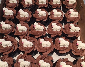 35d01fd9753 12 Royal Icing Sheep for cake decoration cupcake toppers lamb birthday party  theme