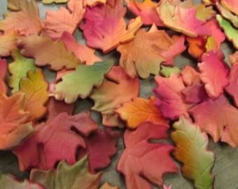 25 Realistic Autumn & Oak Leaves Gumpaste Edible Cupcake Toppers