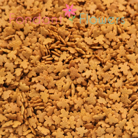 Gingerbread Men Christmas Sprinkle Shapes - (Brown) for cupcakes decorations - Confetti Quins - Christmas Party