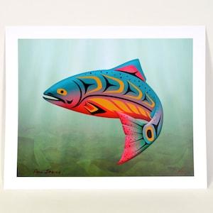 1980 Jerry Smith Sea Bear Limited Edition Print Northwest Coast Native Art 22 x 30 Super Rare