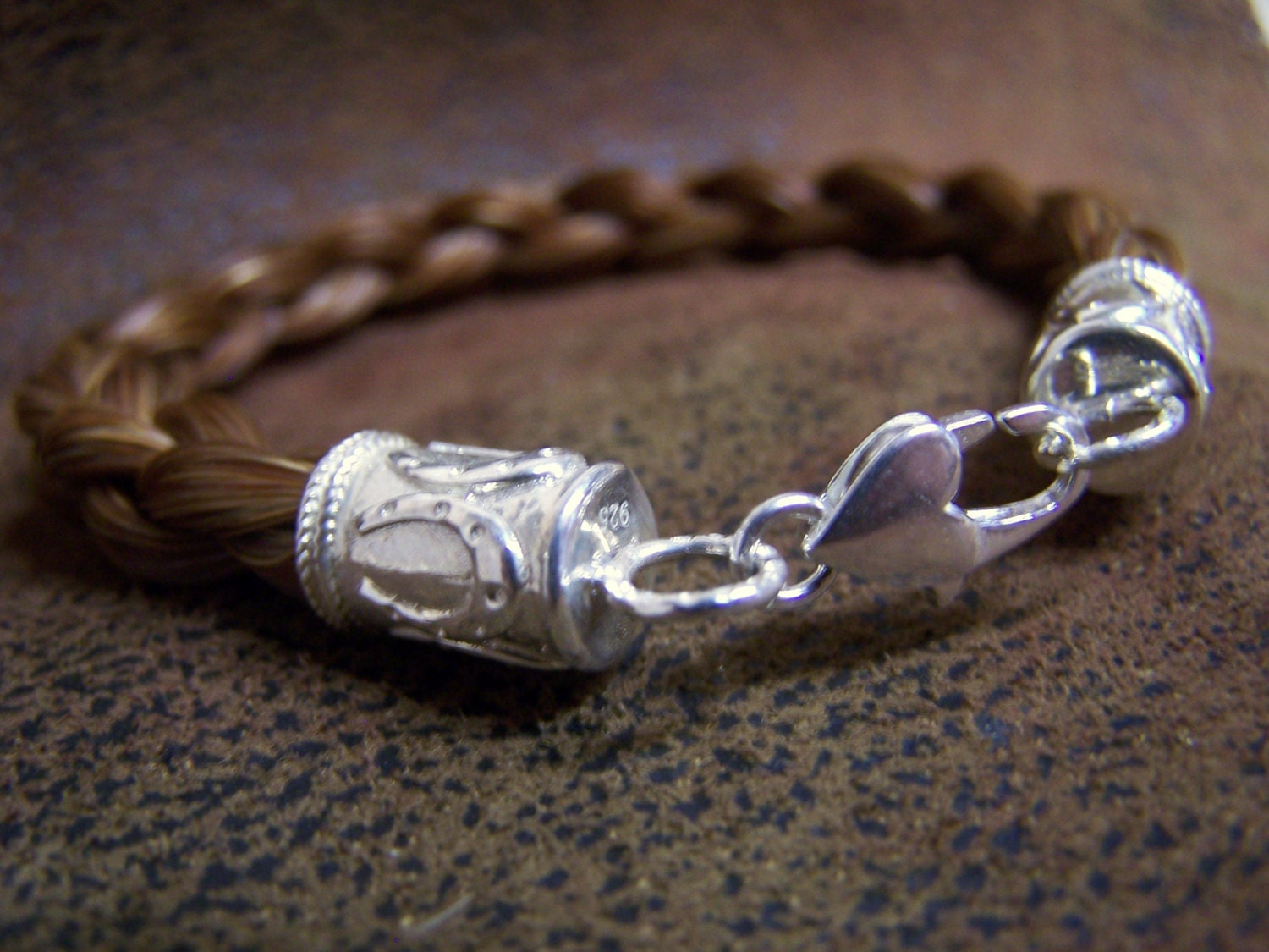 Men's/Women's:Stunning Custom Made Horse Horses Hair Bracelet from Your Horses Horse Tail Hair Gift Certificates Available:Quality trustworthy 43cb1b