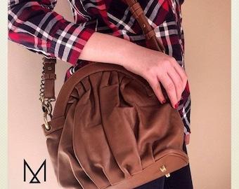 Vintagefolds caramel leather purse