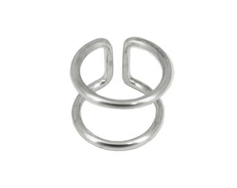 Ring sterling silver double rings