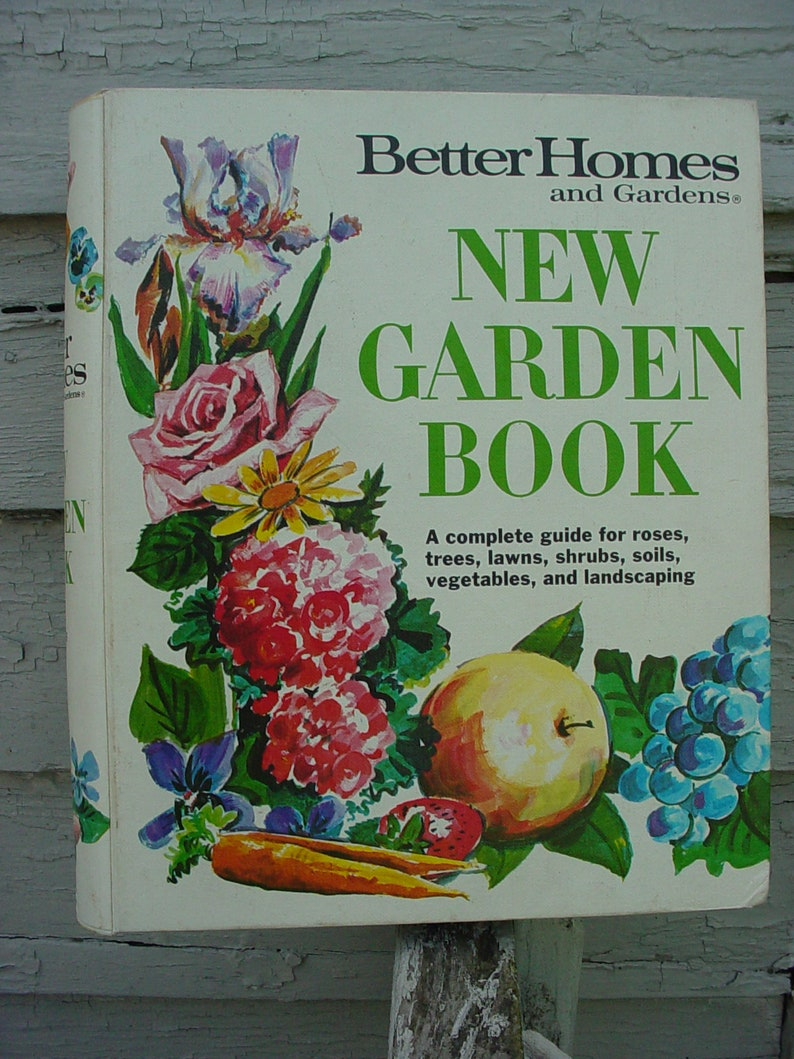 Vintage Better Homes And Gardens New Garden Book Gardening Etsy