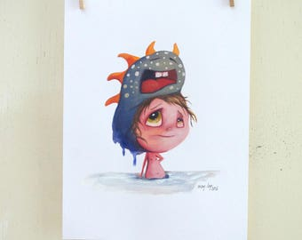 "original illustration ""Hat 25"" (paper, oil painting)"