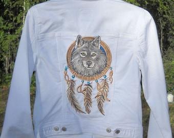 EMB-005 Embroidered Denim Jacket