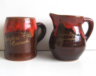 Canadian Pottery Miniature Souvenir Mug   Jug - 3
