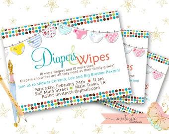 Diaper Shower Invite Etsy