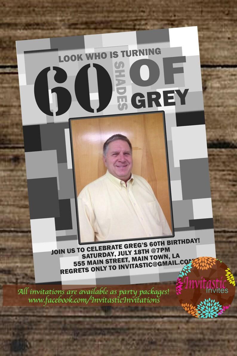 50 Shades Of Grey Milestone Birthday Invitation 30th 40th Etsy