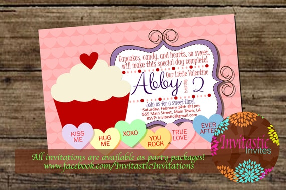 Valentine S Day Birthday Invitation Valentine S Candy Etsy