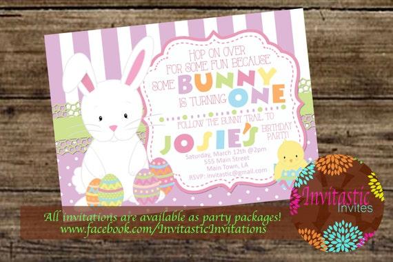 Easter birthday invitation easter some bunny themed birthday etsy image 0 filmwisefo