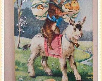 Vintage style Easter ornament, card, decoration, antique, postcard, victorian, paper #E-22