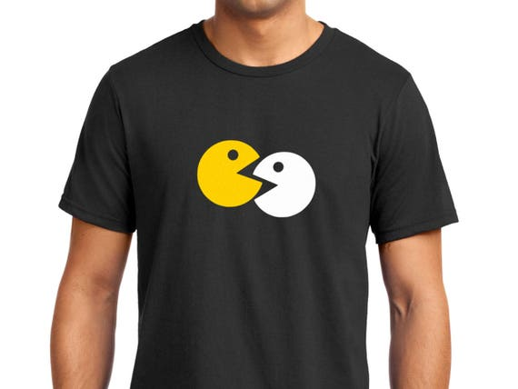 Pac-Man in Love Men's T-shirt, many colours