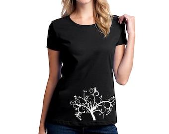 Der Magische Baum T-shirt Dame Kurzarm