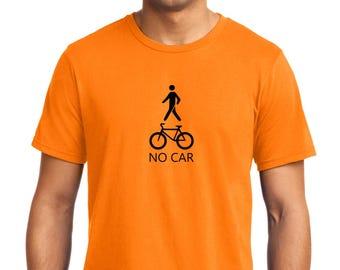 No Car T-shirt Men Short Sleeve