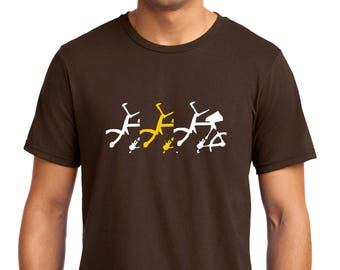 Bicycle in Motion T-shirt Men Short Sleeve