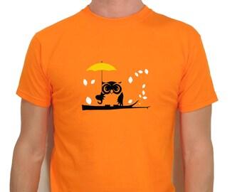 An Owl in the Rain T-shirt Men Short Sleeve