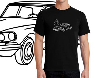 Citroën DS, The Legendary Car of The Mentalist T-shirt Men Short Sleeve
