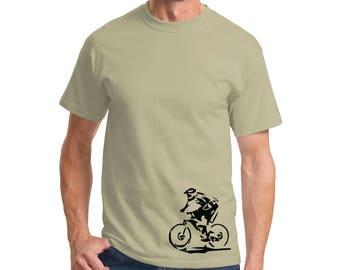 Art Cross T-shirt Men Short Sleeve