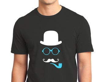 The Invisible Man with a Pipe T-shirt Men Short Sleeve