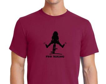 Fun Biking T-shirt Men Short Sleeve
