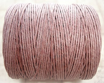 7 ply Irish Waxed Linen Cord - Victorian Rose - 1 Yard