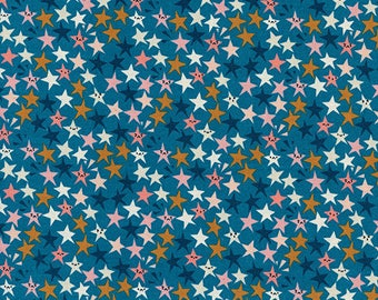 Starstruck in Teal by Rashida Coleman-Hale from the Paper Cuts collection for Cotton and Steel #1965-01 by 1/2 yard