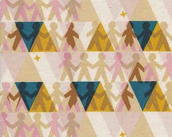 Paper People in Sunshine by Rashida Coleman-Hale from the Paper Cuts collection for Cotton and Steel #1962-01 by 1/2 yard