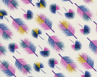 Unbeleafable in Grapes by Rashida Coleman-Hale from the Lagoon collection for Cotton and Steel #1958-01 by 1/2 yard