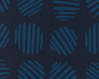 Coin Dots in Deep Sea by Alexia Abegg from the Panorama collection for Cotton and Steel #5175-03 by 1/2 yard