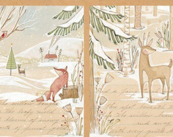 A Day in the Forest Panel by Cori Dantini from the Winter News collection for Blend #112.117.01.1