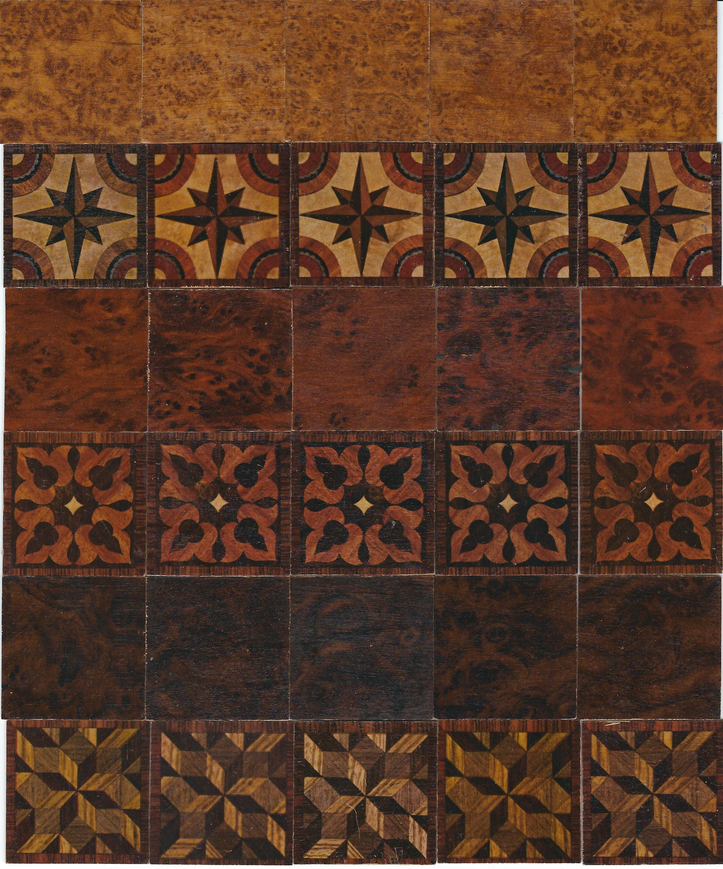 marquetry tiny wooden tiles garbaty tarso holzbilder cards | etsy