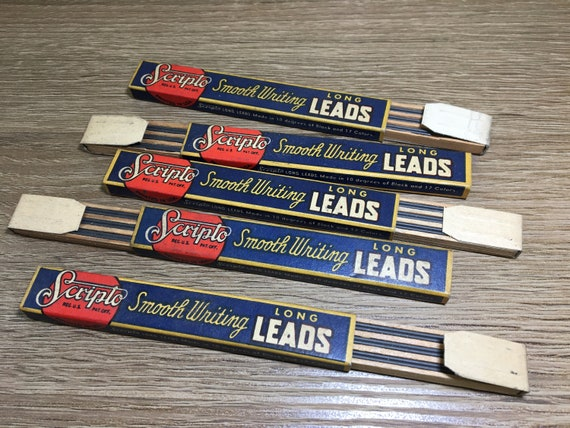 Vintage SCRIPTO Smooth Writing Long Leads NOS New Old Stock In Etsy