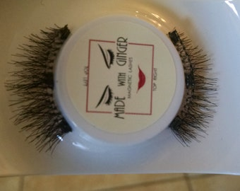 Luxury Magnetic Lashes 1 inch wide, 13mm length, 3 Tiny Magnets, with Blue Lash Tweezer