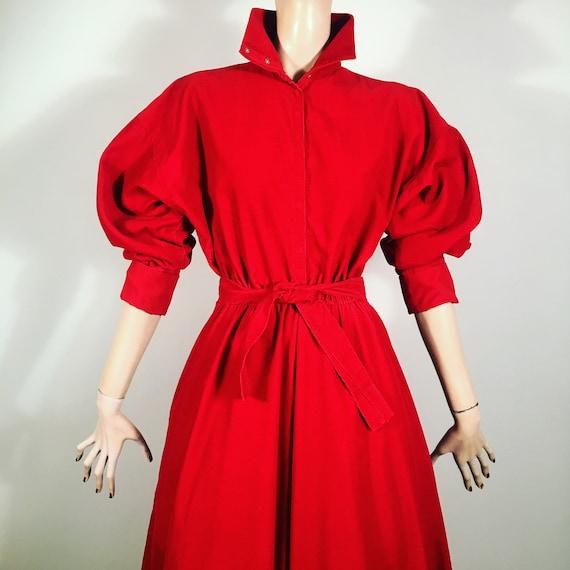 vintage NORMA KAMALI, 80s dress, full skirt, puff