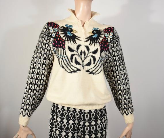KANSAI YAMAMOTO sweater, 80s kansai yamamoto, bird