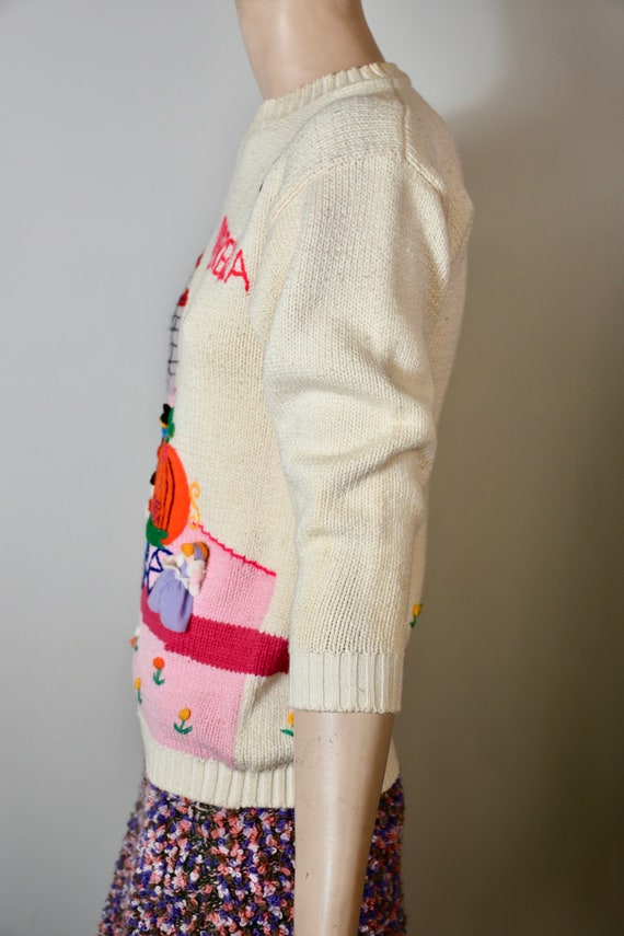 vintage 80s sweater, novelty knit, novelty sweate… - image 5